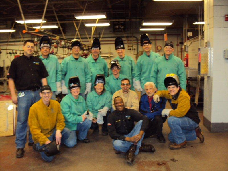Station 4 MFD firefighters and Welding instructors and students