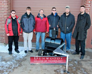 Seven students and their Snow Devil 1012 plow will compete in the Fifth Annual Institute of Navigation (ION) Autonomous Snowplow Competition in Rice Park this weekend.