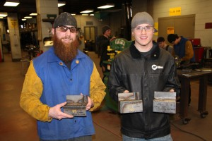 Zech Bradach earned second place in Gas Metal Arc Welding (GMAW) and third place in Shielded Metal Arc Welding (SMAW). Reller earned third place in the GMAW division.