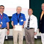 Distinguished Teacher Award Winner: Jim Nyberg (Pictured from left to right: E.J. Daigle, Jim Nyberg, Jeff Ylinen, Rich Wagner)