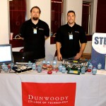 Dunwoody Students Tylor Klish (Welding) and James Olson (Automated Systems & Robotics) staffed a table at the tournament and told interested students and parents about Dunwoody programs and promoted this summer's STEM Camp.
