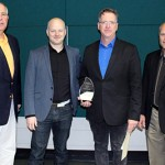 Outstanding Academic Innovation Award Winner: Stephen Knowles (Pictured from left to right: Rich Wagner, John Dwyer, Stephen Knowles, Jeff Ylinen)