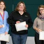 Outstanding Team Award Winner: Support for Campus Women's Initiatives Team (Pictured from left to right: Janet Nurnberg, Jenny Saplis, Maggie Whitman)
