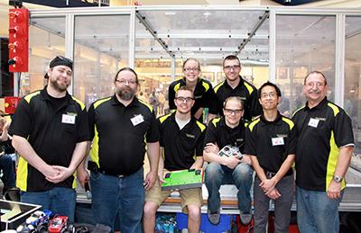 Group shot of Dunwoody's Midwest Robotics Team League