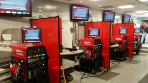 Virtual welding stations housed in the Careers in Welding trailer