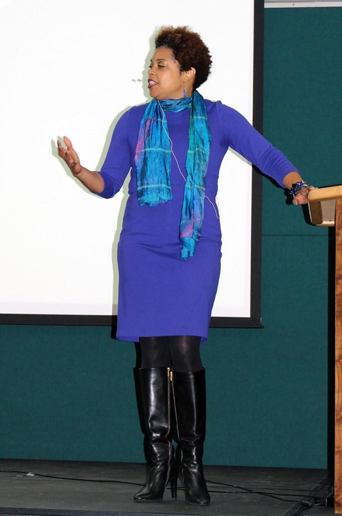 Twanya Hood Hill speaks at Dunwoody College of Technology for the C. Charles Jackson Leadership Lecture Series