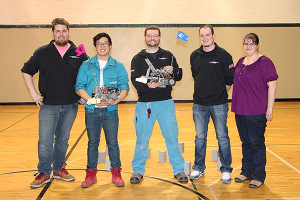 Buhler apprentices/Dunwoody students Matt Stumm, Austin Carline, Andrew Hohn, Mike Schweizer and Virgina Pearson
