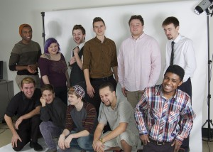 Second-year Design & Graphics Technology students pose for a photo in the College's photo studio.