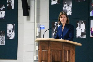 Attorney General Lori Swanson speaks at Dunwoody's Diversity Forum in celebration of Women's History Month.