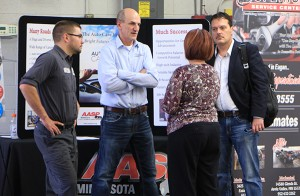 Photo of guests talking at Auto Open House event