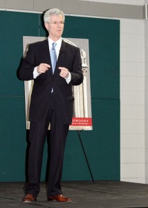 Photo of Ted Ferrara speaking at Dunwoody.