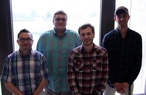Photo of Curtis Meriam, Wyatt Spencer, Joseph Irey, and Matt Anderson.