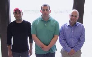 Photo of Jake Blue, James Dallman, and Patrick Kowal.