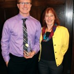 Pictured from left to right: Collin Ripley and Electrical Construction & Maintenance principal instructor Polly Friendshuh