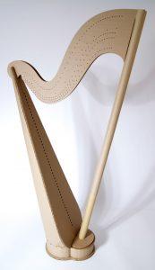 Harp built by student Karen West