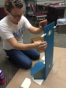 LeMay working on a Tumblewalla POS display
