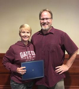 First-year Radiologic Technology student Julie VanderWal with Dunwoody Radiologic Technology Program Manager David Blake