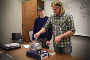 First-year Mechanical Engineering students complete an in-class, impromptu design challenge