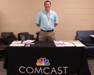 Comcast talks to students at first Warrior Wednesday