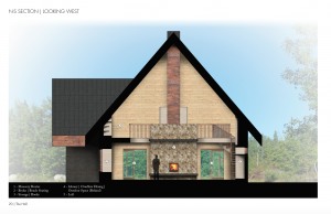 A potential dining hall design for the Steger Wilderness Center created by Architecture students James Matthes,<br /> Aaron McCauley, Guyon Brenna, and Marcos Villalobos.