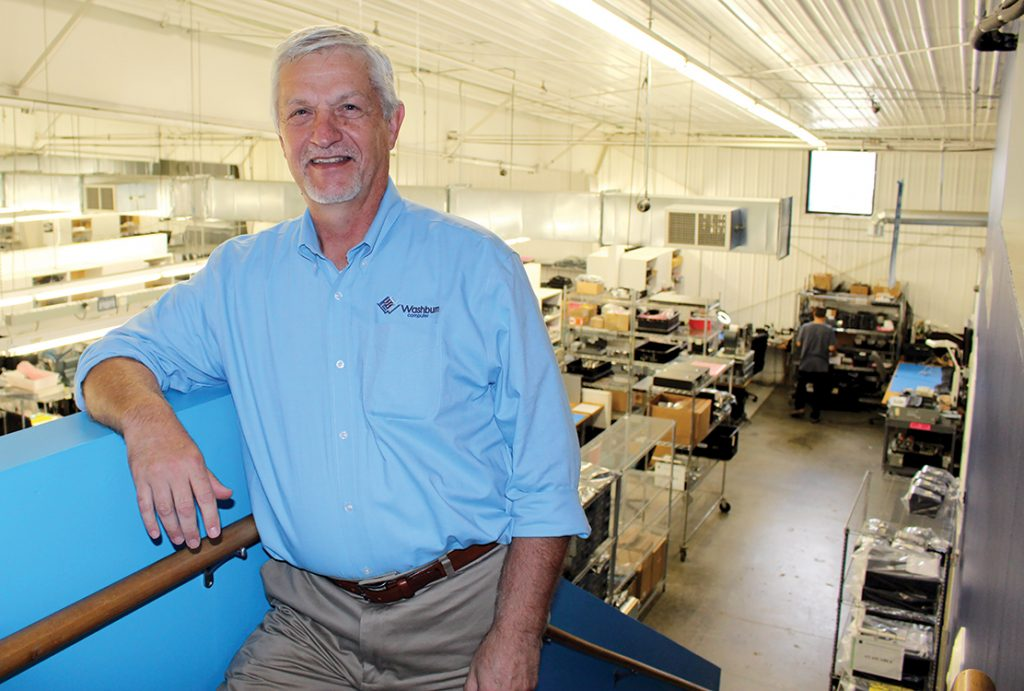 Photo of Allen Wentland at Washburn Computer Group.