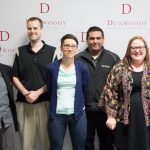 From Left to Right: Instructor Paula Merns, Network Engineer Matt Anderson, Senior Instructor Mary Kosuth, Associate Director of Career Services Rob Borchardt, Admissions Data Lead Becky Sommers, Project Manager Mary Zawadski