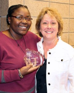 Tiara Hill with YCAP's Associate Director of Special Initiatives Peggy Quam