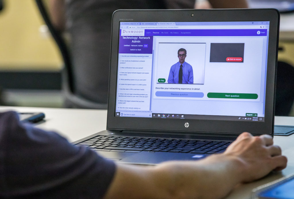 New software enhances how Dunwoody students prepare for job
