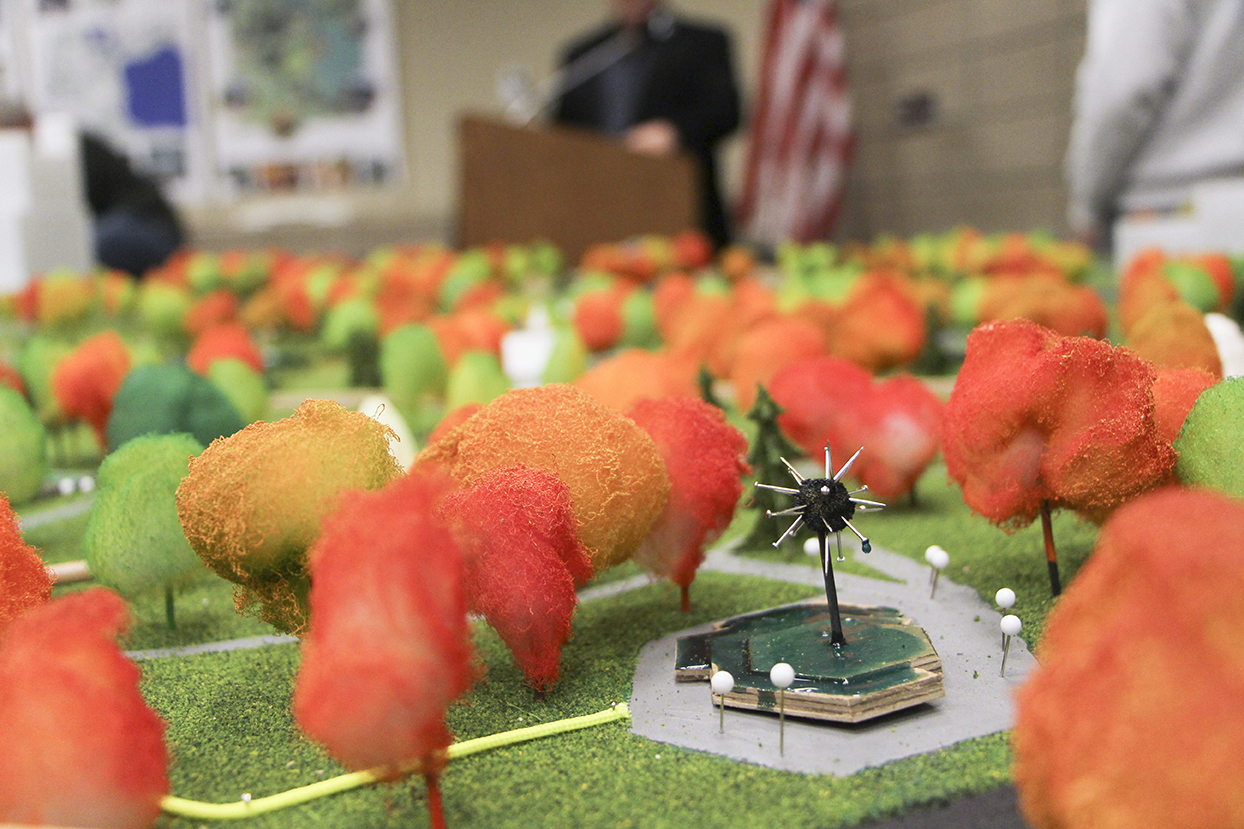 Student made scale model of Loring Park