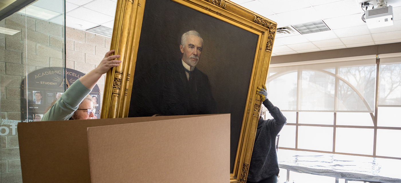 William H. Dunwoody portrait on the move