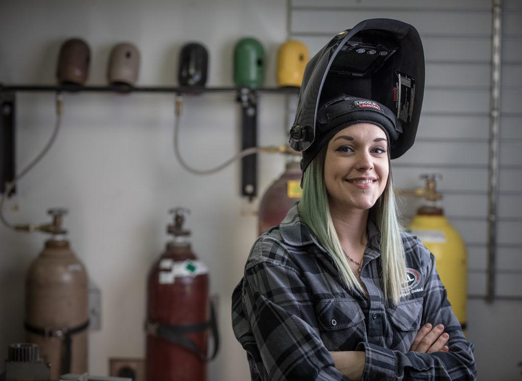Alex Mars, a 2015 alumna of the Dunwoody College of Technology Welding program.