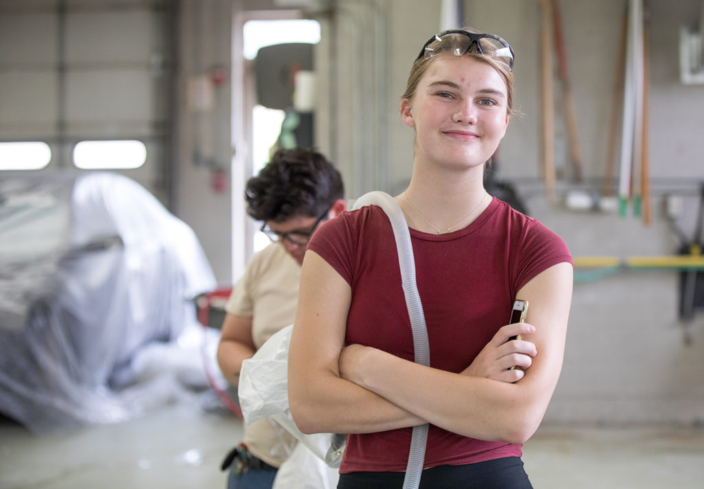 Mia Troska is considering a degree in either Construction Management or Electrical Construction Design & Management.