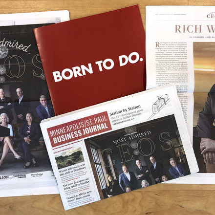 Minneapolis/St Paul Business Journal coverage of Rich Wagner, of of the top 10 Most Admired CEOs in the Twin Cities.