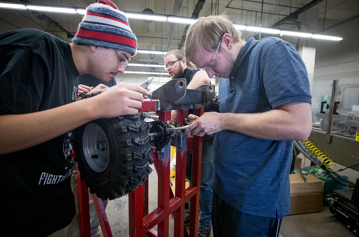 Students build the new snowplow