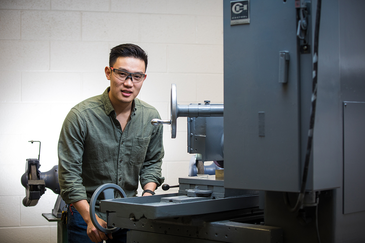 Tommy Dao, Mechanical Engineering student