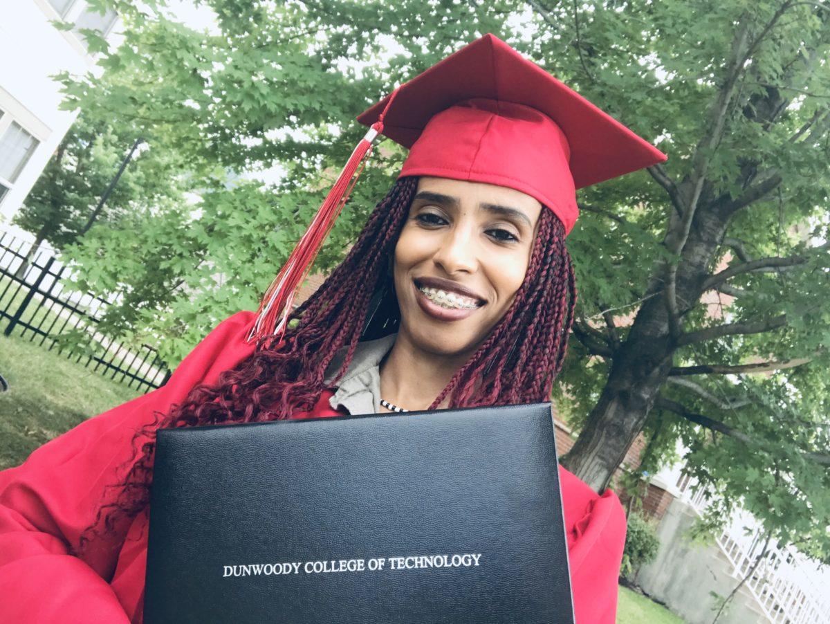 Safa Mustafa with Diploma