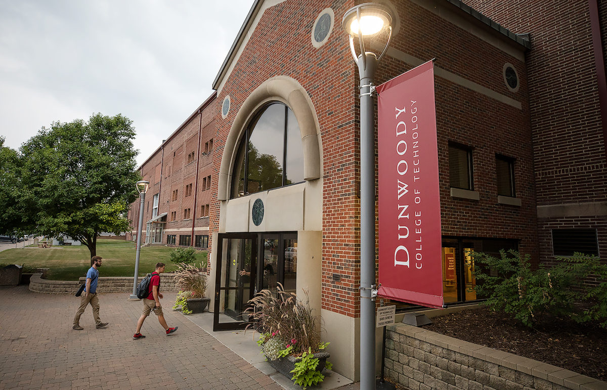 Students enter the West entrance of Dunwoody College of Technology