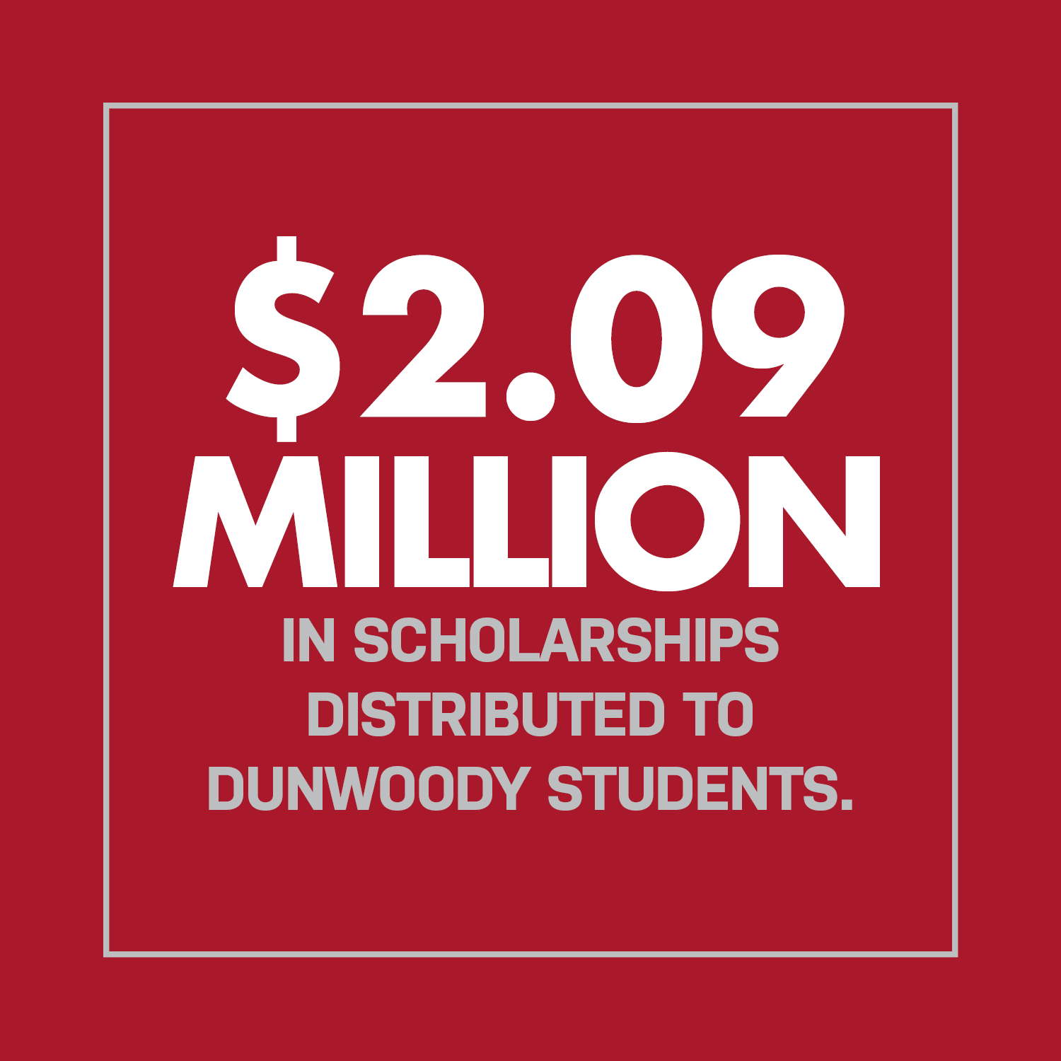 $2.09 Million Scholarships Distributed to Dunwoody Students.