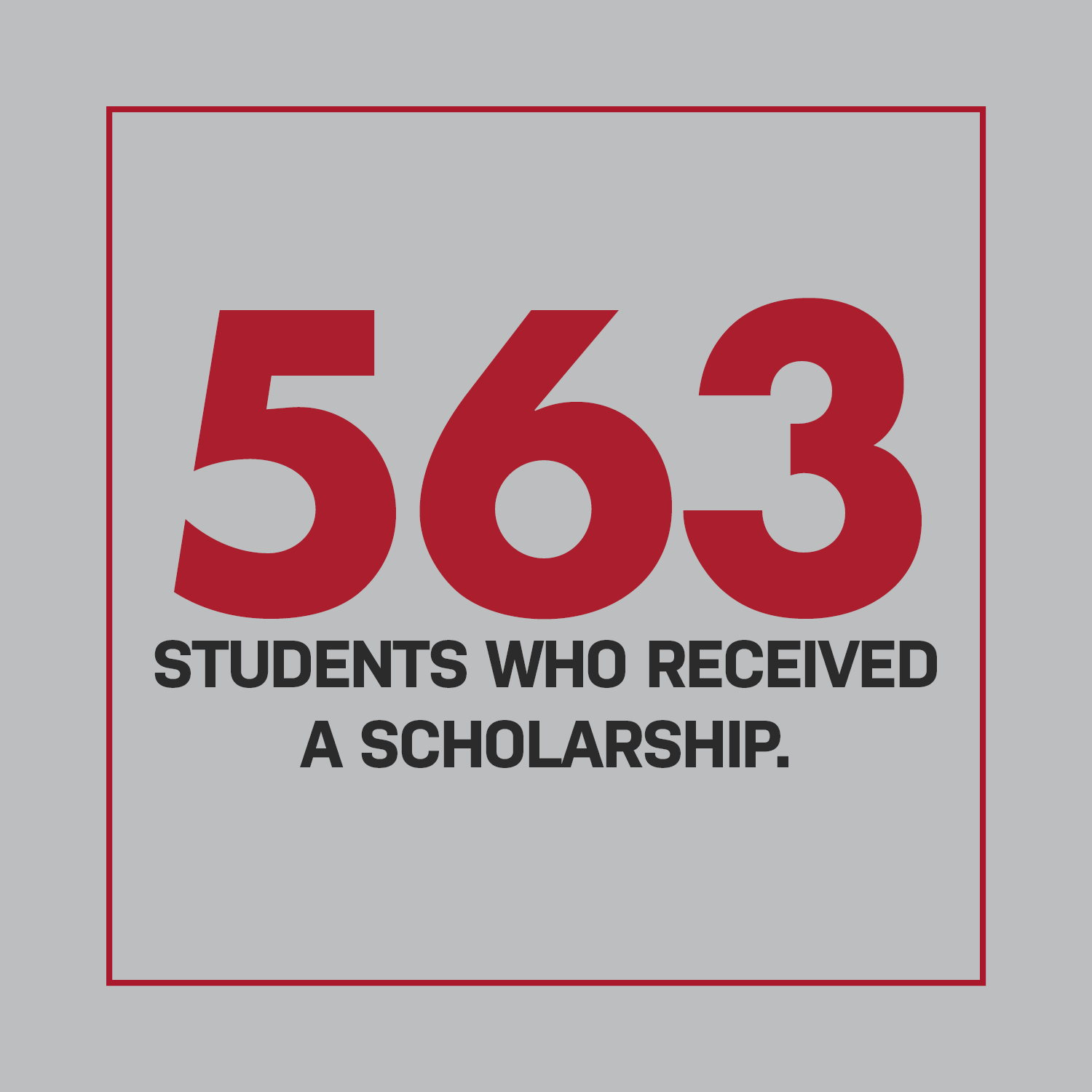 563 Students Who Received a Scholarshipl