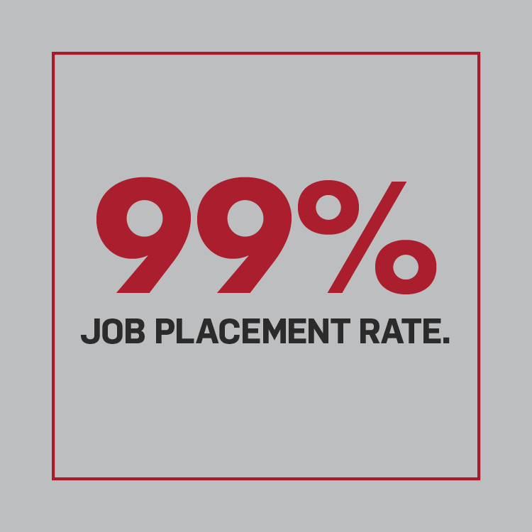 99% job placement rate