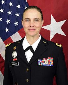 Photo of Brigadier General Stefanie Horvath in her National Guard uniform