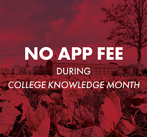 No Application Fee During College Knowledge Month