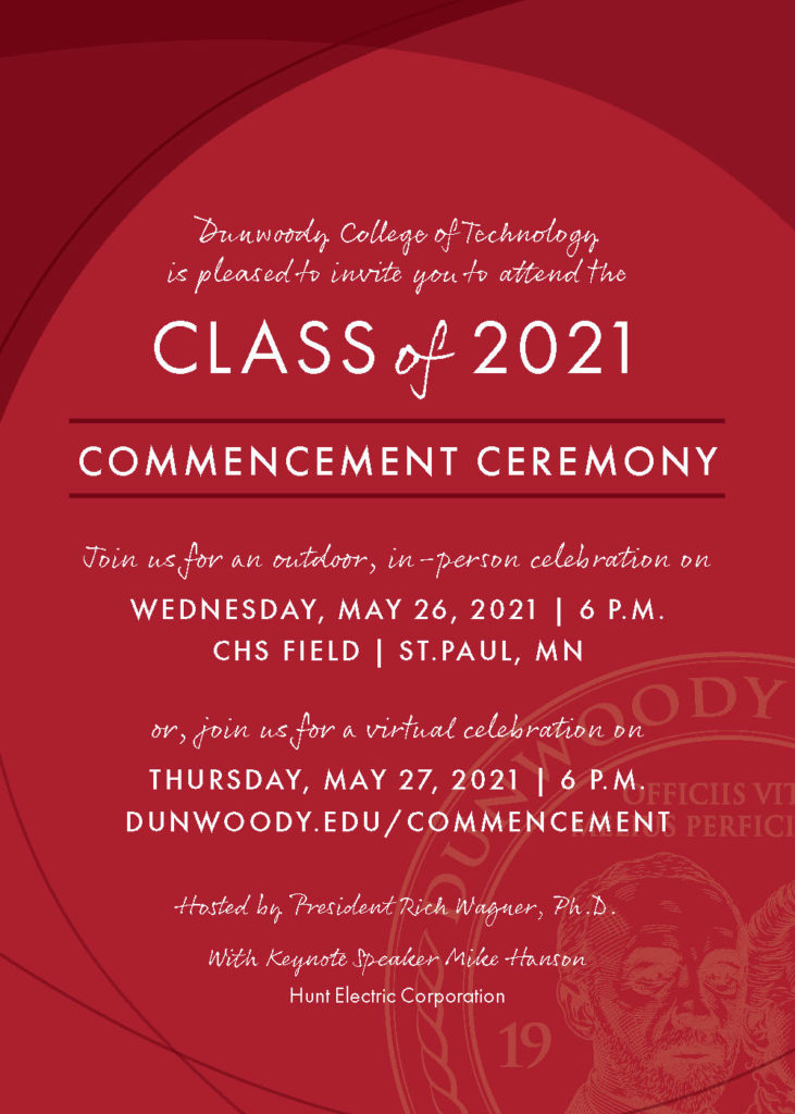2021 Commencement Invitation